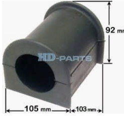 312304 Втулка стабилизатора переднего SCANIA 40 мм